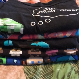 Other - 5 Minecraft T-shirt's